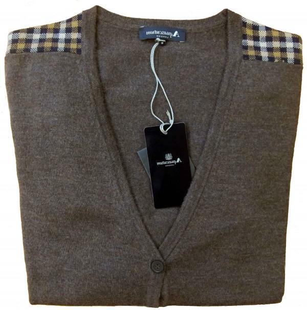 Cardigan Aquascutum of London Marrone Abbigliamento Negozio Roma