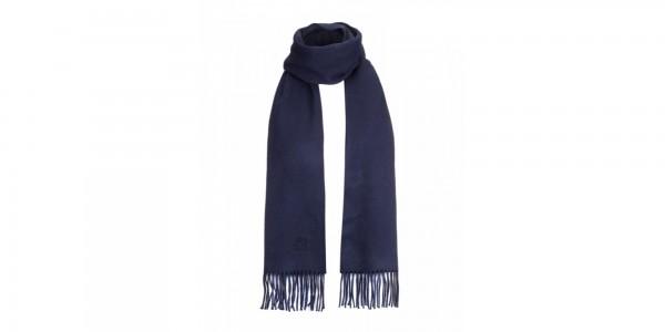 sciarpa aquascutum of london tinta unita blu