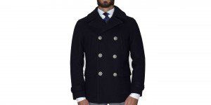 Cappotto Hackett London Peacot Lana doppiopetto