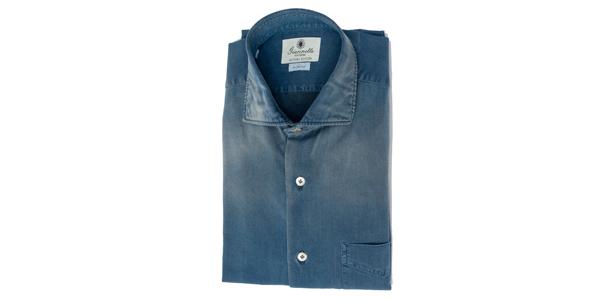 camicia di jeans uomo giannetto portofino