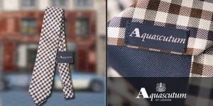 cravatte Aquascutum club check