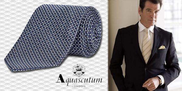 cravatte Aquascutum fantasia blu