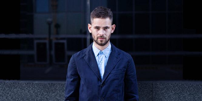 outlet aspesi blue jacket