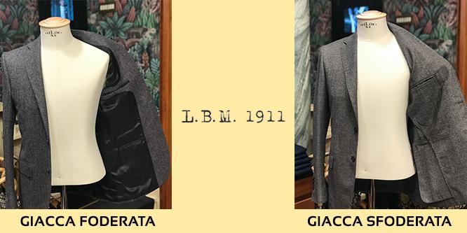 giacca lbm 1911 foderata e sfoderata