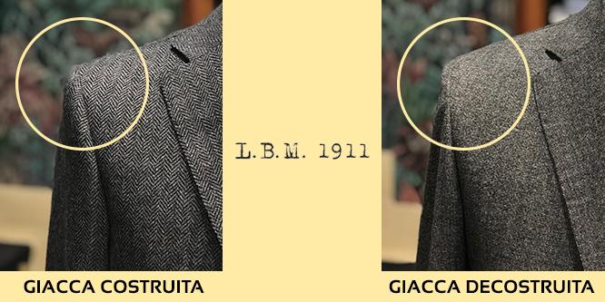 giacca lbm 1911 spalla costruita e decostruita