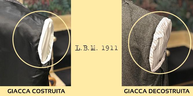 spalla interna giacca lbm 1911 costruita e decostruita