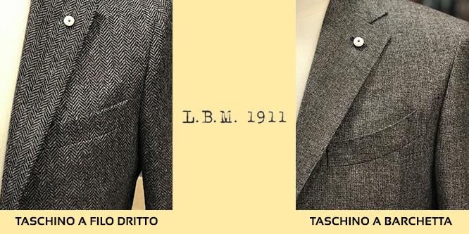 taschino giacca lbm 1911 filo dritto e barchetta