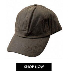 Barbour Cappello Visiera Cerato Verde