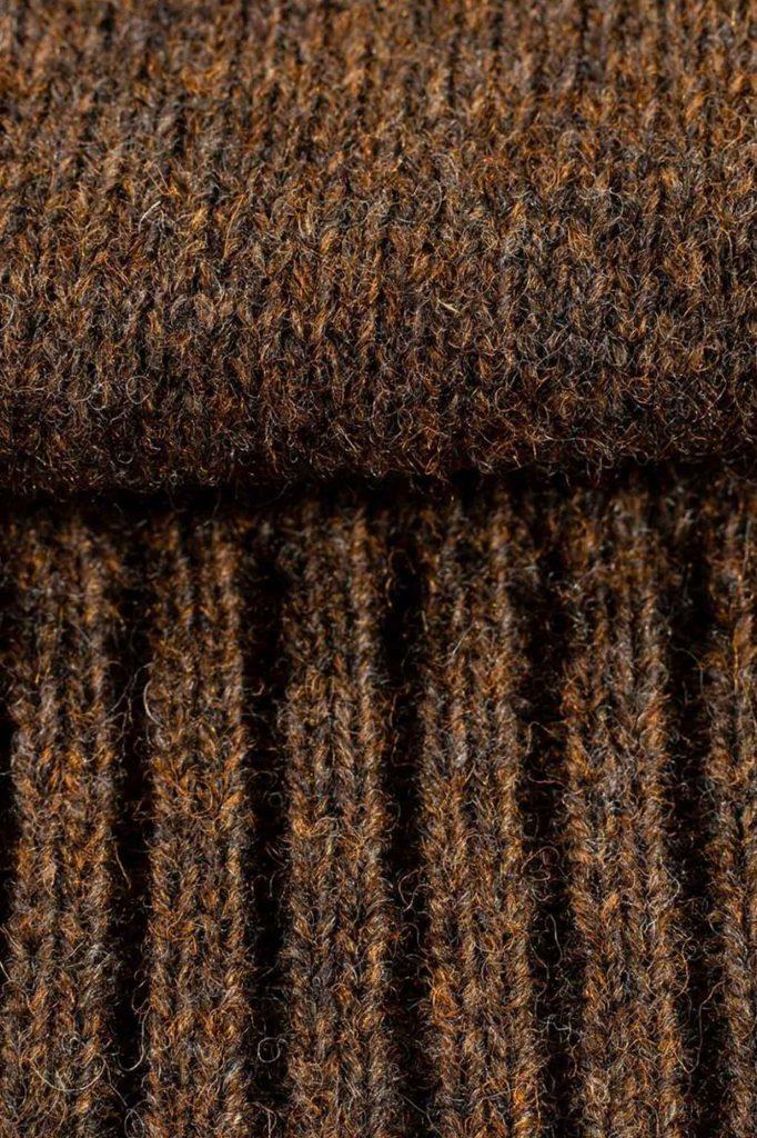 particolare maglione shetland